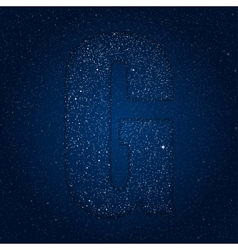 abstract alphabet of stars The starry sky vector image
