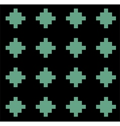 Black green rural geometric ornament pattern vector image vector image