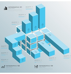 Cube Bar Business Infographic vector image