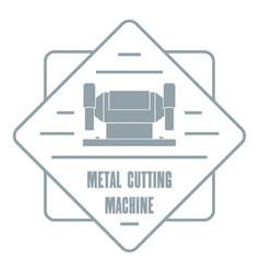 metal cutting machine logo vintage style vector image