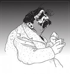 old man illustration vector image vector image