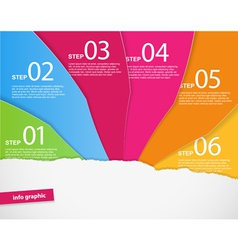 Set of colored papers with place for your own text vector image