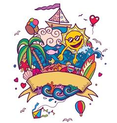 Summer Doodle vector image