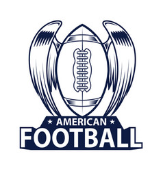 american football logo american sport style vector image vector image