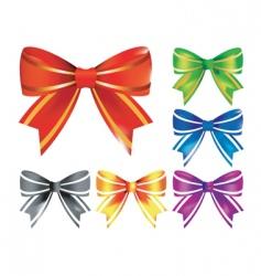 decorative bows vector image vector image