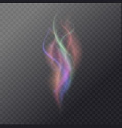 fluid magic smoke on a dark background vector image