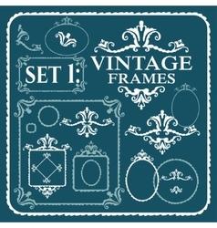 Vintage frames with floral pattern vector image