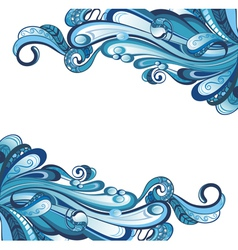 Water card vector image