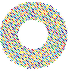 Circle with dots for design project halftone vector