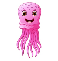 Funny and beautiful jellyfish vector image vector image