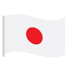 isolated japanese flag vector image