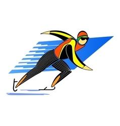 Skater man skating on ice vector image vector image