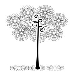 tree flourishes vector image