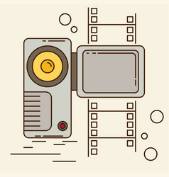 video camera flat style vector image