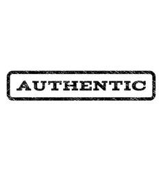 Authentic watermark stamp vector