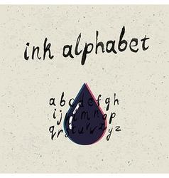 ink hand drawn alphabet vector image