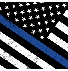 Police Support Flag Background vector image vector image
