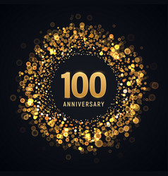 100 years anniversary isolated design vector image