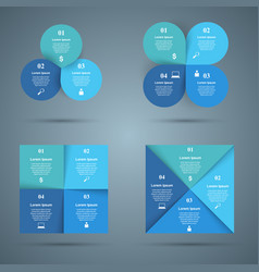 3d infographic design template and marketing icons vector image