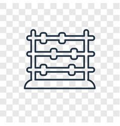 Abacus toy concept linear icon isolated on vector