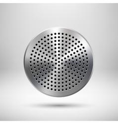 Abstract Circle Button Template vector