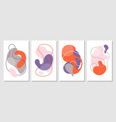 abstract shapes contemporary cards creative art vector image
