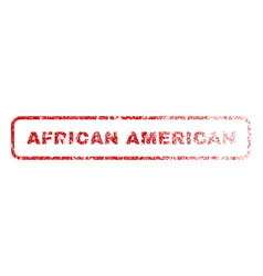 African american rubber stamp vector