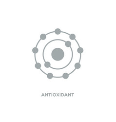 Antioxidant icon radical free oxidant vector