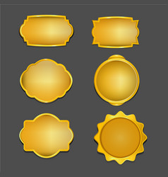 antique gold retro frame collection vector image
