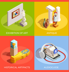 Antique museum design concept vector