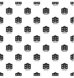apartments pattern seamless vector image