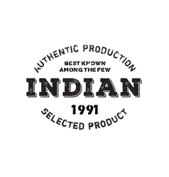 Authentic indian product stamp vector
