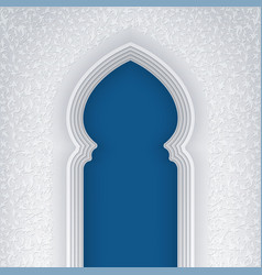 Background with arabic arch vector