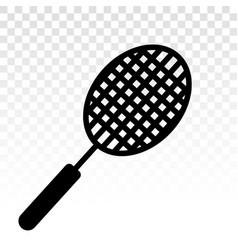 Badminton racquet flat icons for sports apps vector