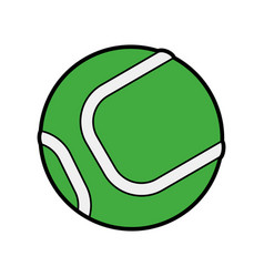 Ball tennis accessories icon image vector