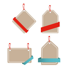 Banner set of paper tag design template ima vector