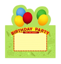 Birthday party inventation card vector