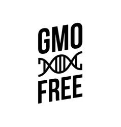 black and white colored gmo free emblems vector image