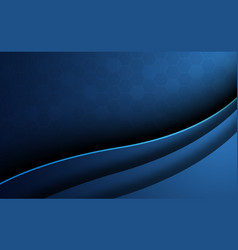 Blue abstract honeycomb background with curve vector