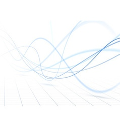 Blue swoosh waves perspective background vector