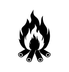 bonfire icon vector image