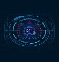 car service futuristic dashboard design vector image