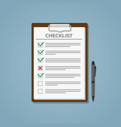 checklist in notepad vector image