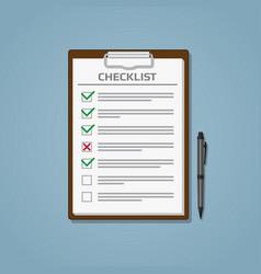 Checklist in notepad vector