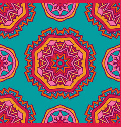 colorful ethnic festive abstract floral vector image