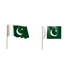 colorful naturalistic waving pakistan flag vector image