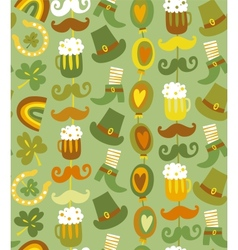 Colorful seamless StPatricks day pattern vector image