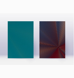 cover design template set abstract lines modern b vector image