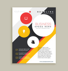 Creative brochure template presentation vector