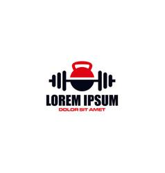 Creative logo design concept fitness vector